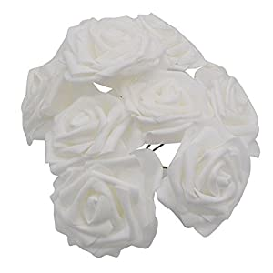 YONGSNOW Artificial Flowers PE Foam Roses 50 Pcs for DIY Wedding Home Party Decor, Real-Touch Bouquet 2