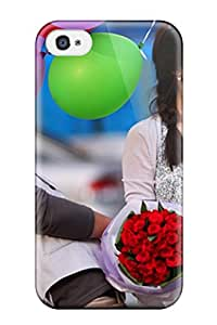 Tpu ZippyDoritEduard Shockproof Scratcheproof Korean Guy With Flowers And Girl With Balloons Hard Case Cover For Iphone 4/4s