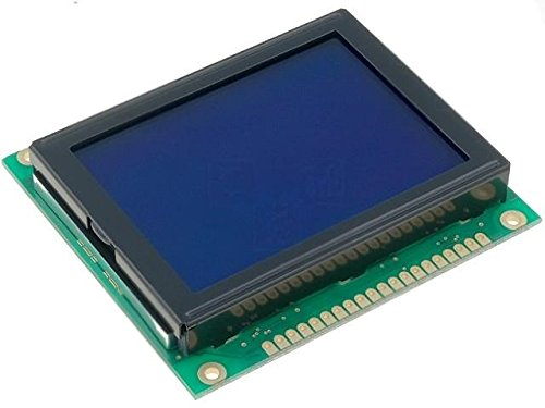 RG12864C-BIW-V Display LCD graphical STN Negative 128x64 blue LED RAYSTAR OPTRONICS