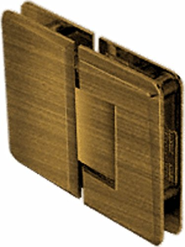 - CRL Pinnacle 180 Series Antique Brass 180186; Glass-To-Glass Standard Hinge