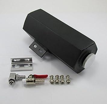 Negro con textura Aluminio fabricated tanque de depósito de líquido ...