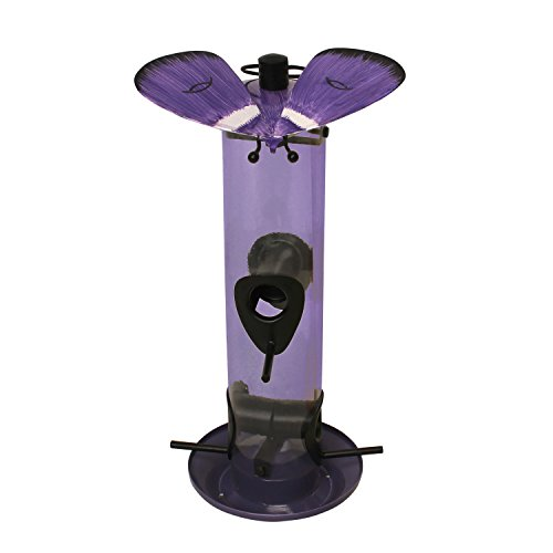Heath Outdoor Products 21520 Gossamer Butterfly Tube Feeder, Purple