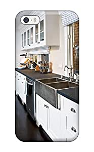ElsieJM Iphone 5/5s Well-designed Hard Case Cover Transitional Kitchen With White Cabinetry Protector