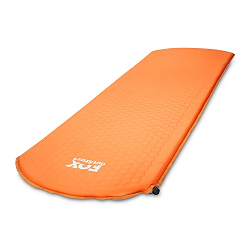 Fox Outfitters Lightweight Series Self Inflating Camp Pad – Perfect Foam Sleeping Pads for Camping, Backpacking, Hiking, Hammocks, Tents Regular