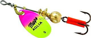 product image for Aglia In-Line Spinner, 1/12 oz, Plain Treble Hook, Hot Pink & Chartreuse Blade