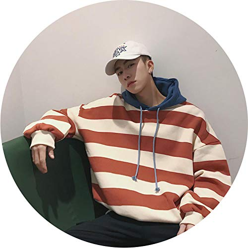 Colorful Dream- Men Striped Thick Hoodies 2019 Streetwear