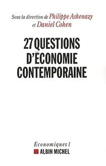 Book's Cover ofVingt-sept questions d'économie contemporaine