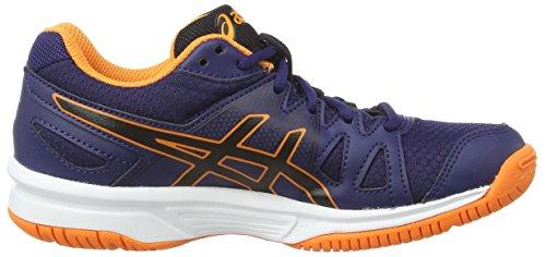 Asics Gel-Upcourt GS - Zapatillas de Voleibol Unisex Niños Azul (Navy/Black/Hot Orange 5090)