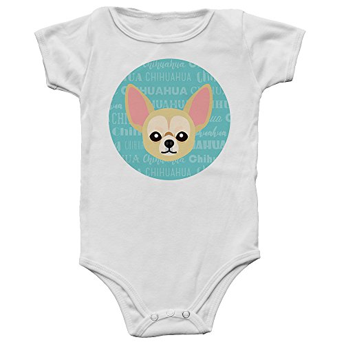 Mystic Sloth Adorable Dog Breed Specific Baby/Toddler Bodysuit (Chihuahua, 6 Months)