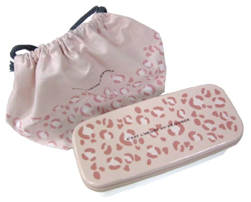 OSK Soft Animal Leopard Lunch (Bento) Box with Bento Bag and Chopsticks [Import from Japan] by OSK