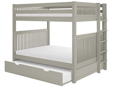 Camaflexi C1614L_TR Bunk Bed with Trundle - Mission Headboar