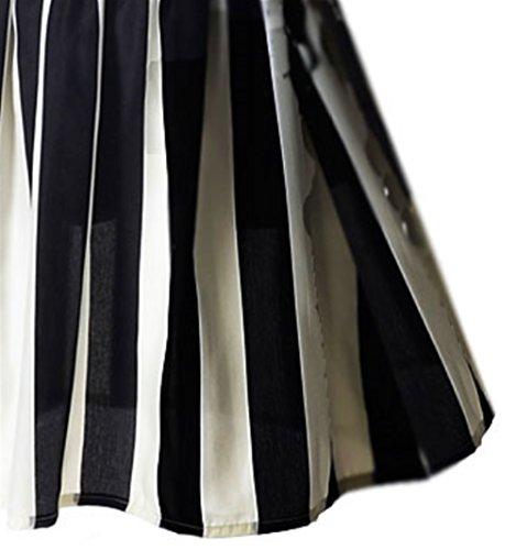 et Rond en Mousseline Robe Weekendy en Longue Black Longues Courtes Manches Floral col Manches Robe Jersey et 66P8wq