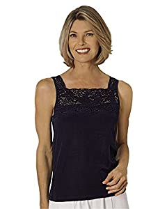 Cuddl Duds Peek-A-Boo Camisole, White, Misses, Womens
