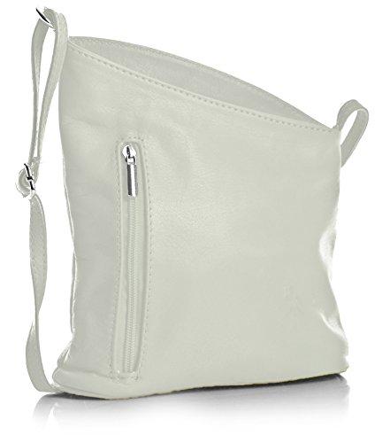 Handbag Blanc Petite Blanc véritable Cuir Shop Venenzi Sac Big souple bandoulière à italien HTq6wHd