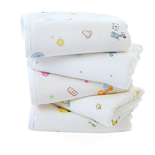 - Candy86 Baby Bath Towels Cartoon Comfortable Cotton Bamboo Fiber Composite Baby Shower Baby Face Towel Bath Washcloths Reusable Newborn Babies Gifts (Random Color) (1 Pcs)