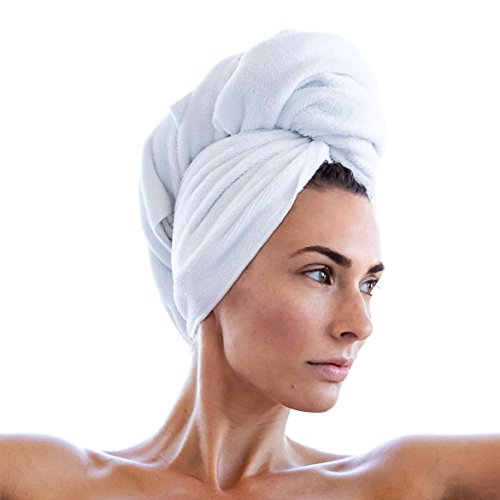 MICROFIBER HAIR TOWEL - Super Absorbent for fast drying - from EMIKO Beauty - Large 43 x 20 ()