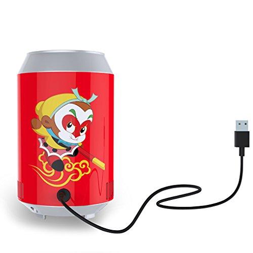 KEMIN USB Fridge Cooler Mini Fridge Use USB Cooler Cup Coffee Tea Car Refrigerator Office Cooler (Red) by KEMIN (Image #1)
