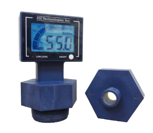 "SSI TECHNOLOGIES DFT-110 Ultrasonic Digital Drum Level Gauge, 2"" and 3/4"", Bung Attachement, 8.75"" x 8.75"" x 4.5"""