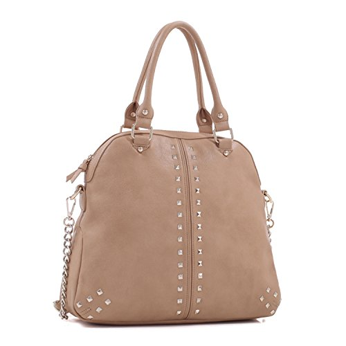 Emperia Olivia Dome Concealed Carry Satchel, Light Brown, One ()