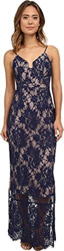 StyleStalker Women's Visions Lace Maxi Dress, Royal Blue, X-Small 41W WCm0JtL