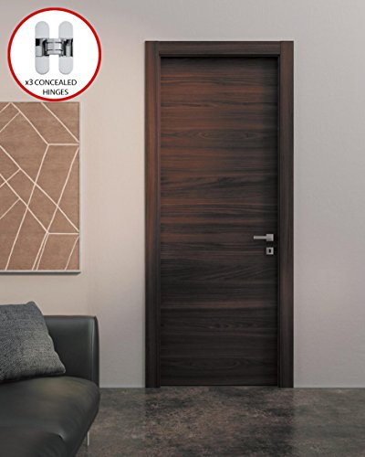 Planum 0010 Interior Door Chocolate Ash with Handle, Lock and Hinges (30