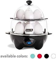 Dash DEC012BK Deluxe Rapid Egg Cooker Electric for for Hard Boiled, Poached, Scrambled, Omelets, Steamed Vegetables, Seafood
