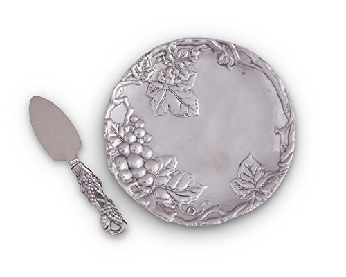 Arthur Court Grape 8-Inch Plate with Cheese Server
