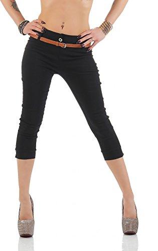 Danaest - Pantalón - Capri - Básico - para mujer negro