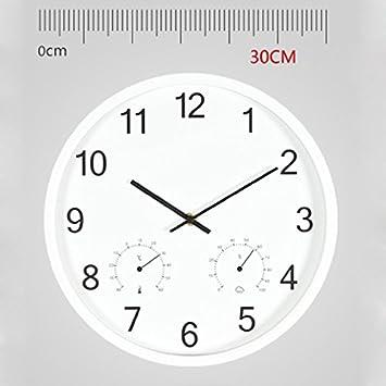 Amazon De Nostalgische Wanduhr Buro Einfache Uhr Mute Quarzuhr