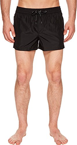 Dolce & Gabbana Men's Solid Short Boxer Swimsuit w/Bag Black 5 by Dolce & Gabbana