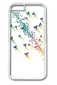 Birds fly upwind Polycarbonate Hard Case Cover for iPhone 6 4.7inch Transparent