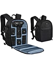 Yesker Camera Backpack Professional DSLR/SLR Camera Bag Waterproof Shockproof, Camera Case Compatible for Sony Canon Nikon Camera and Lens Tripod Accessories for Photographer