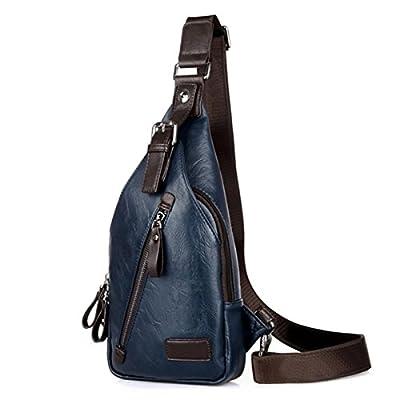 17f0b20af3 Gracosy Men s Chest Leather Shoulder Bag