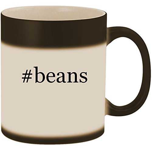 Roasting Cocoa Beans - #beans - 11oz Ceramic Color Changing Heat Sensitive Coffee Mug Cup, Matte Black