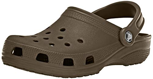 Crocs Classic Clog|Comfortable Slip On Casual Water Shoe, Chocolate, 8 M US Women / 6 M US Men