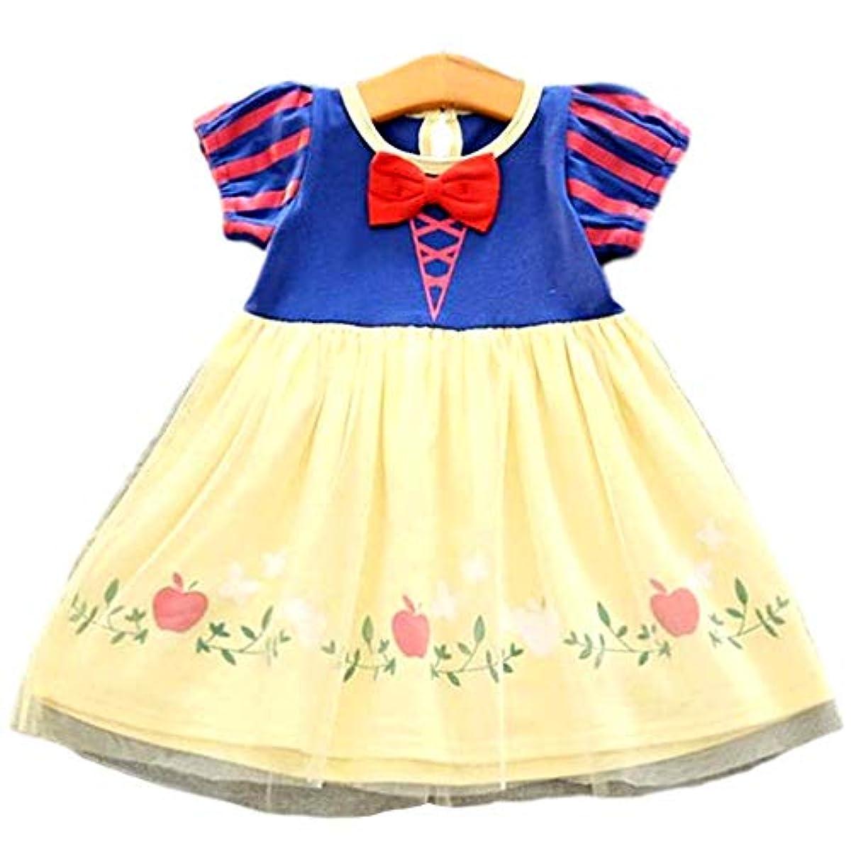 [해외] 【MON LUXE】 할로윈 가장 아이 소녀 화이트설 공주와 일곱 난쟁이 인어 프린세스 공주님 원피스 드레스 변신(나리키리) 키즈 (화이트설 공주와 일곱 난쟁이, 110)