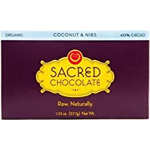 Sacred Chocolate Coconut & Nibs Chocolate 1.33 Oz (11 Pack)