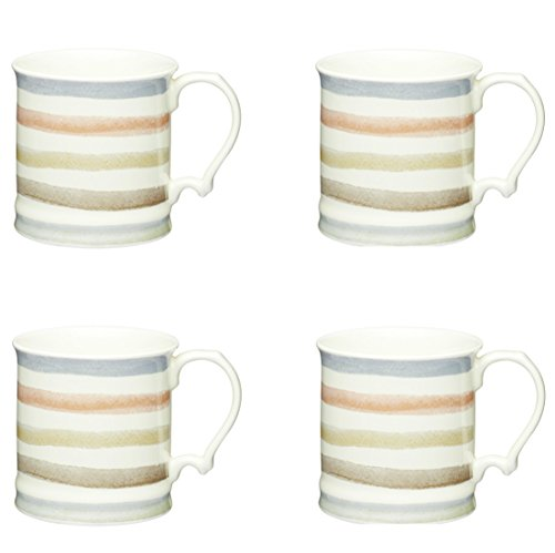 Craft Kitchen Ceramic - Kitchen Craft Classic Collection Vintage-Style Ceramic Tankard Mugs, 350 ml (Set of 4)
