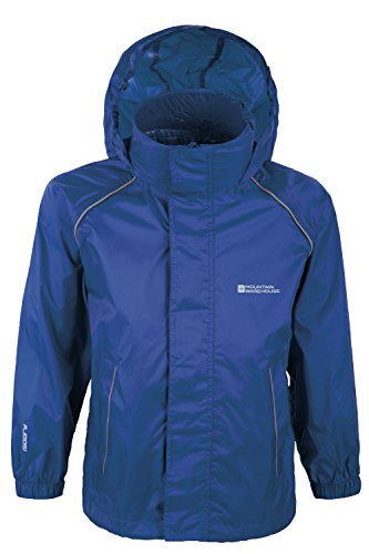 Mountain Warehouse Kids Lightweight Waterproof Rain Jacket Navy 3-4 - Light Jacket Mountain Boys