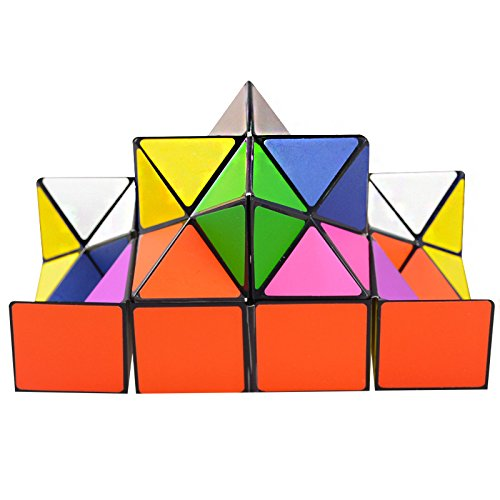 Infinity Cube Toy cAoku 3D Assembly Puzzle 2017 Newest Magic Puzzle Toy Unlimited Fold Cube with Triangular Accessory Inside Brain Teasers Stress Anxiety Relief Toy