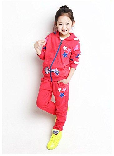 ODFAPP Adorable 2016 Retail Children jogging tracksuit sport set hooded coat + pants kids Boys baby spring autumn clothes Suit model 75T Cool