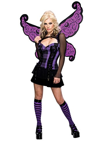 [Secret Wishes Women's Enchanted Creature Adult Punk Fairy Costume, Purple/Black, X-Small] (Punk Fairy Costumes)