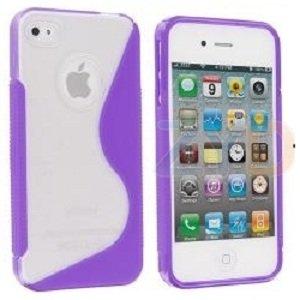 Funda / Carcasa iPhone 4 / 4s, Blanda Gel TPU S-Line Clear ...