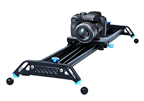 A&J Manual Camera Slider Load Capacity Parallax Track Dolly Parallax  Aluminum Slider Video Making for Digital Camera Canon Nikon Sony, Black (GT-J80) by A&J