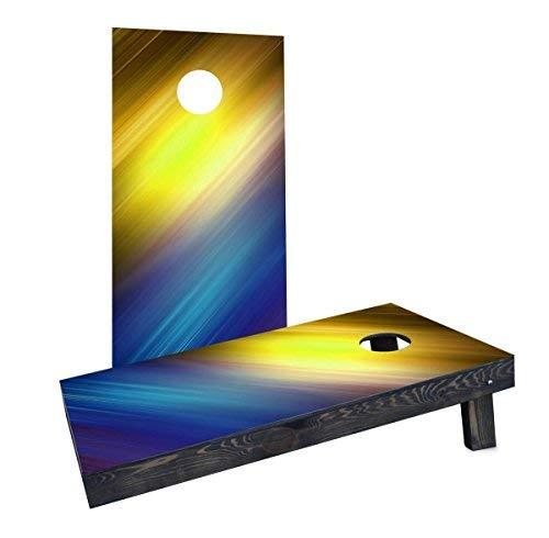 【超目玉枠】 Custom Cornhole Boards CCB1701-C Shine Shine White/Blue Cornhole Boards Yellow White Boards/Blue [並行輸入品] B07HLFNBQV, 【こすたと】:b428e821 --- arianechie.dominiotemporario.com
