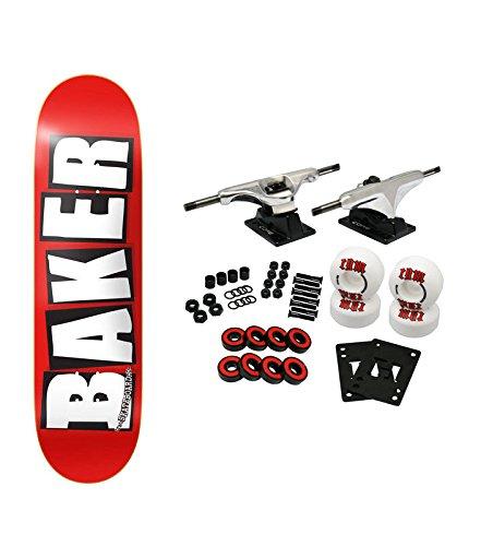 Baker Skateboard Complete Logo White 8.0