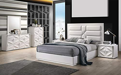 Milan CAPRI-KING-4PC Capri King-Size Set, White ()