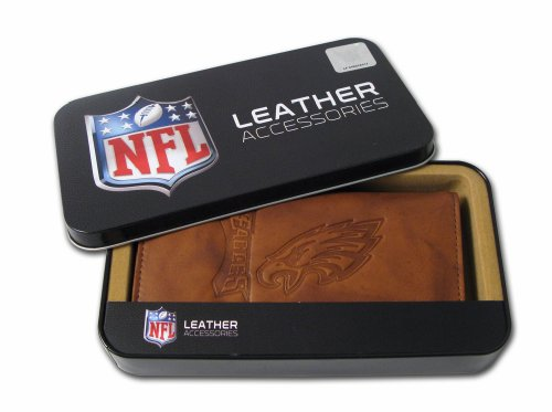 NFL Philadelphia Eagles Embossed Genuine Leather Checkbook (Eagles Embossed Leather)
