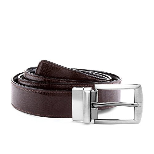 Laurels Men's Black & Brown Reversible Synthetic Leather Belt (Pack Of 1)- BVT-0209