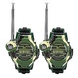 Kids Walkie Talkie Watches, 2 Pcs Children Simulation Military Watch Walkie Talkies Outdoor